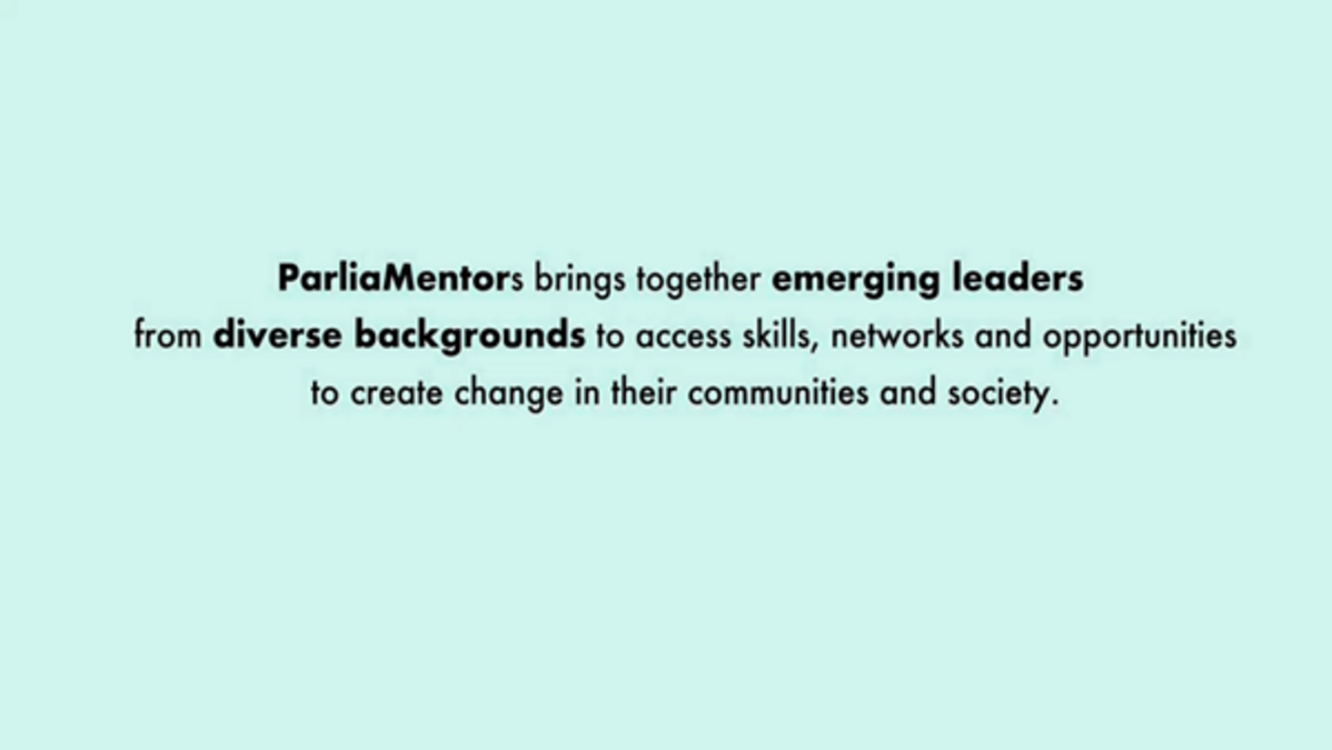 ParliaMentors brings together emerging leaders from diverse backgrounds to access skills, networks and opportunities to create change in their communities and society