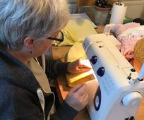 Alison Simcock sewing