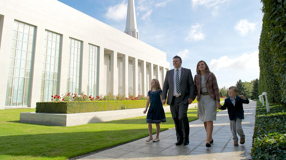 Family at Preston Temple