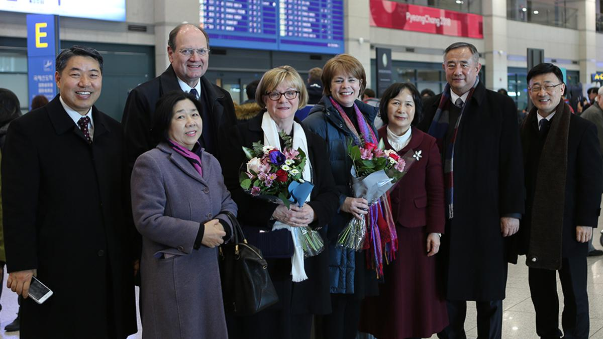 headquarters visit to korea