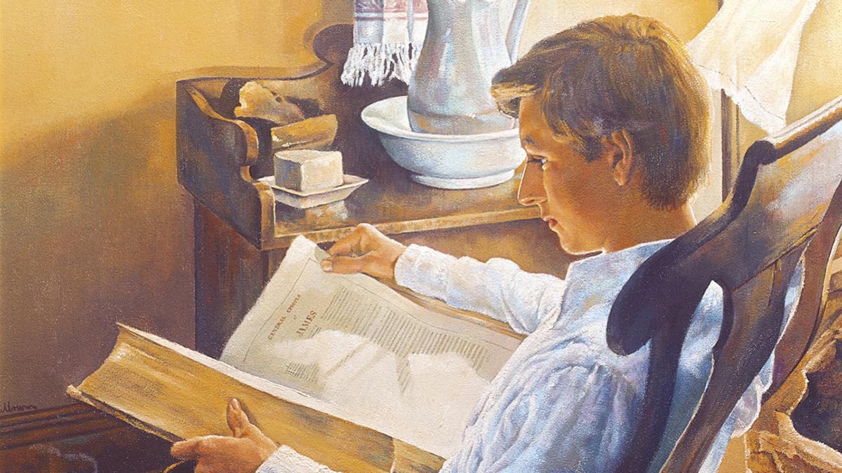 성경을 공부하는 조셉 스미스