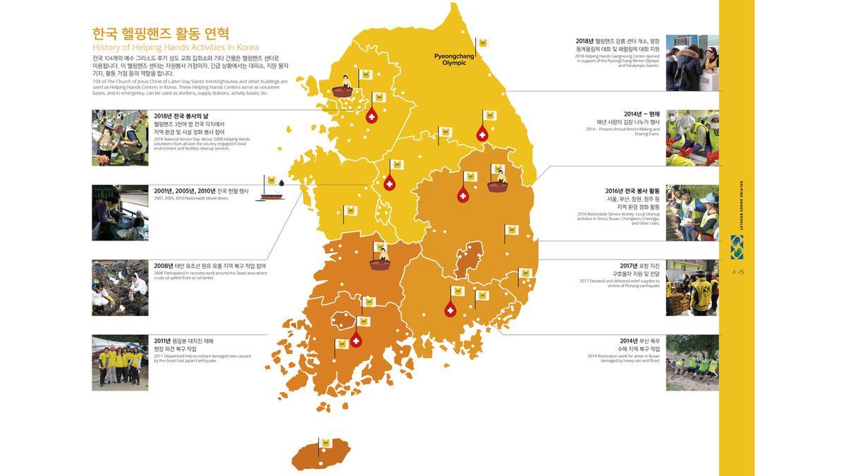 한국 헬핑핸즈 지도