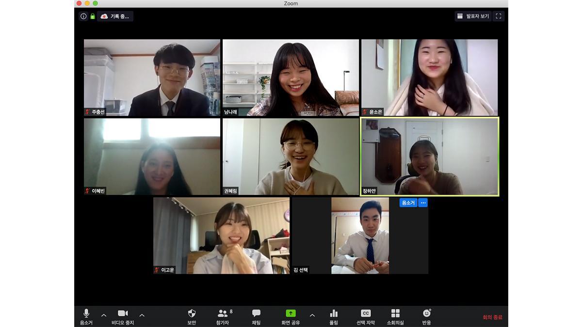 온라인 MTC 중 일부 선교사들의 모습, 해당 분반은 지난 5월 1~18일에 진행되었다.