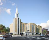 번동의 새로운 교회 건물 조감도