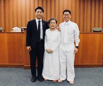 침례 받기전 사진