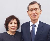 새로 부름받은 서울 성전 회장 부부
