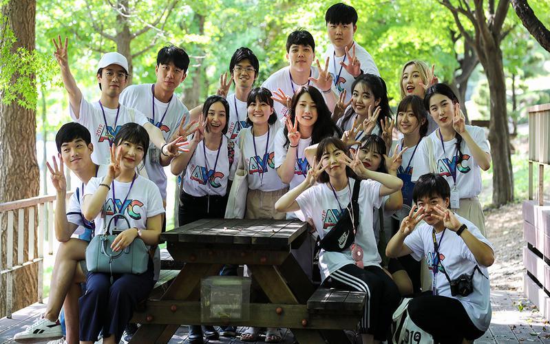 지역 연합 청년 대회 청년들