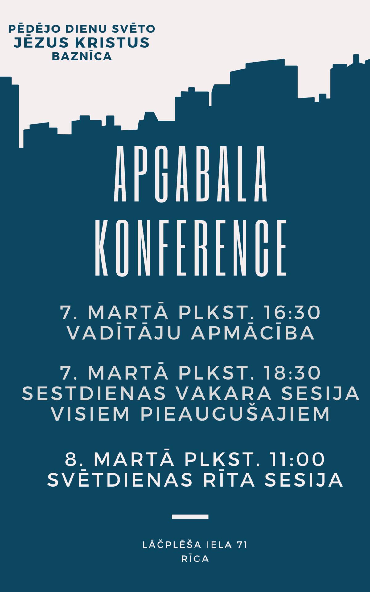 Apgabala konferences plakāts