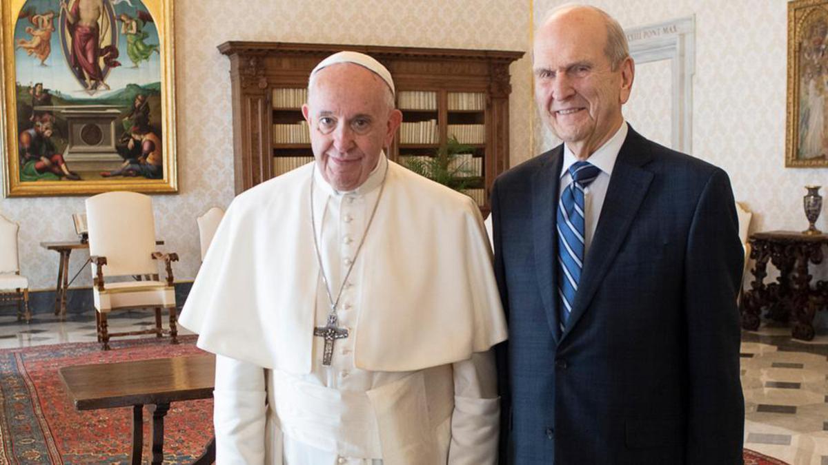 Pirmā reize, kad kāds no pēdējo dienu svēto prezidentiem ir ticies ar pāvestu.