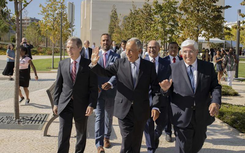 Portugāles prezidents Marselo Rebelo de Souza apmeklē Lisabonas templi