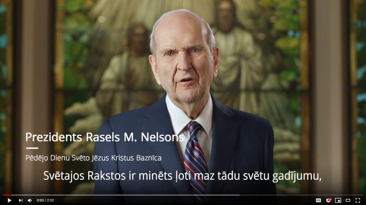 Prezidenta Nelsona uzruna