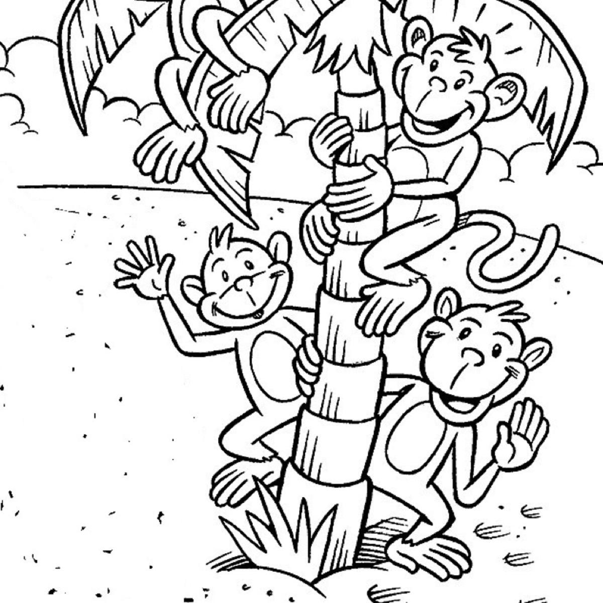 Beždžionėlės ant palmės