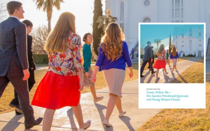 Vaikinai ir merginos eina į šventyklą
