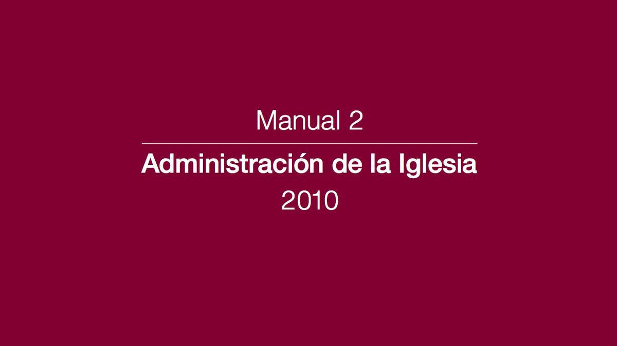 Portada Manual 2: Administración de la Iglesia