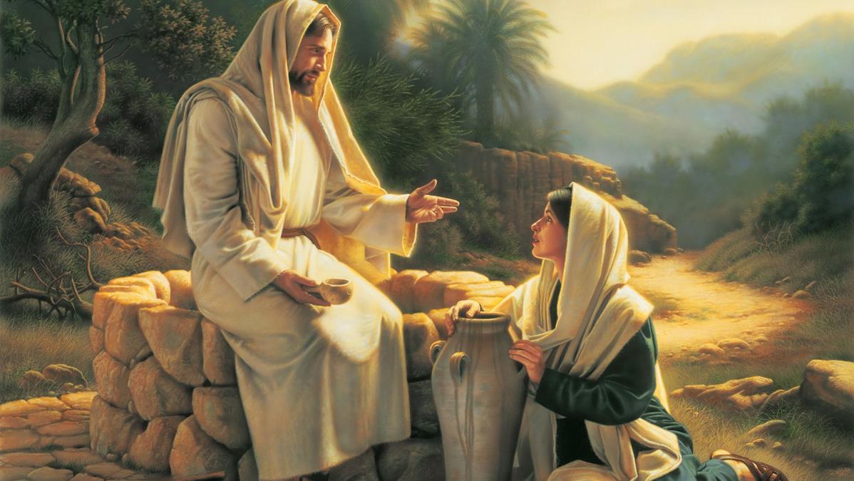 Jesus y la mujer samaritana