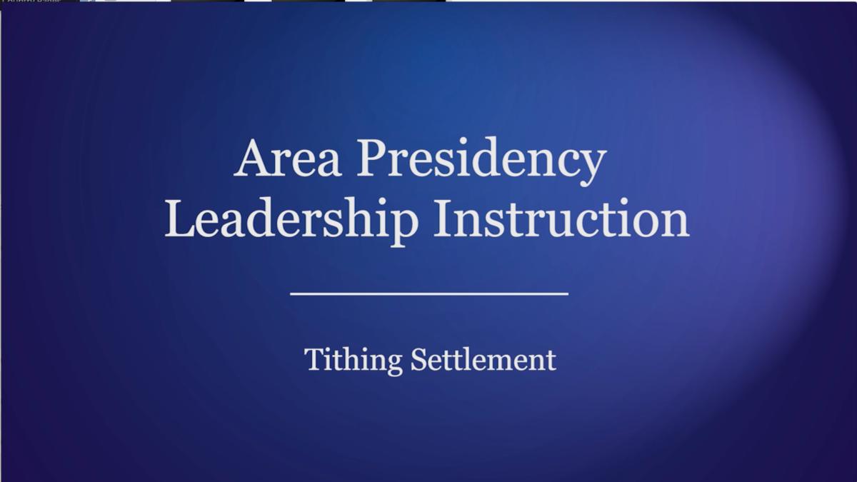 Tithing Settlement