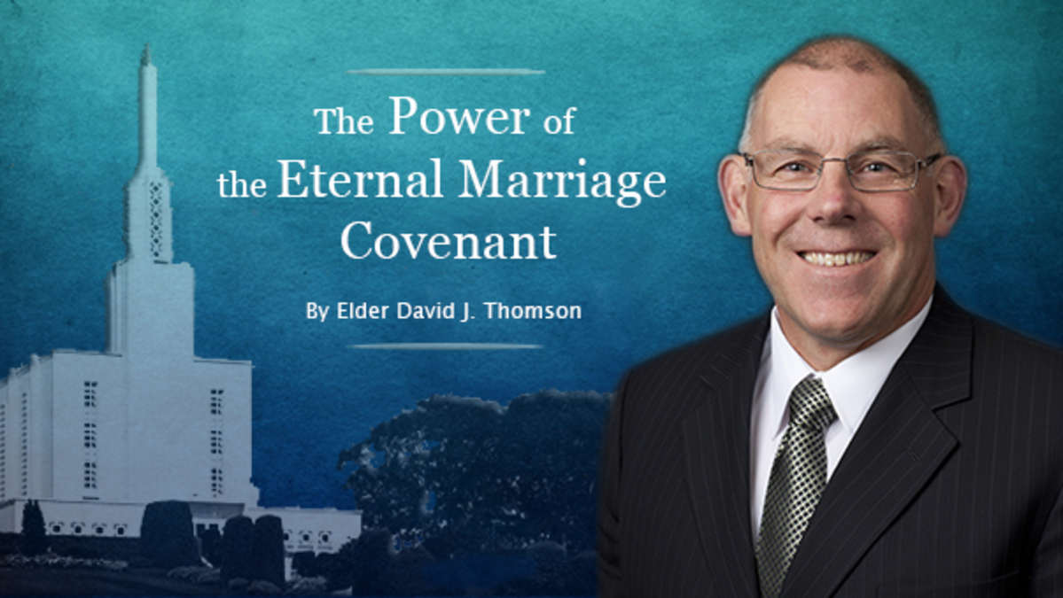 Elder David J. Thomson and the temple