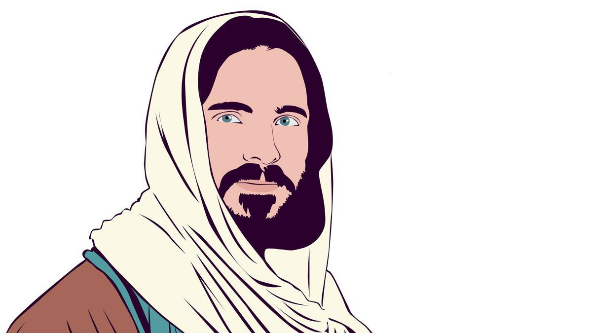 A drawing of Jesus Christ.