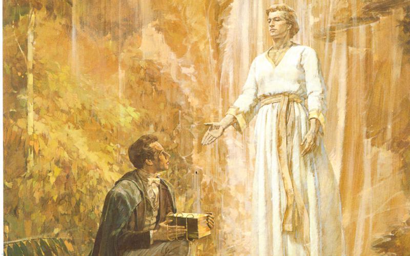 El ángel Moroni aparece al profeta Jose Smith