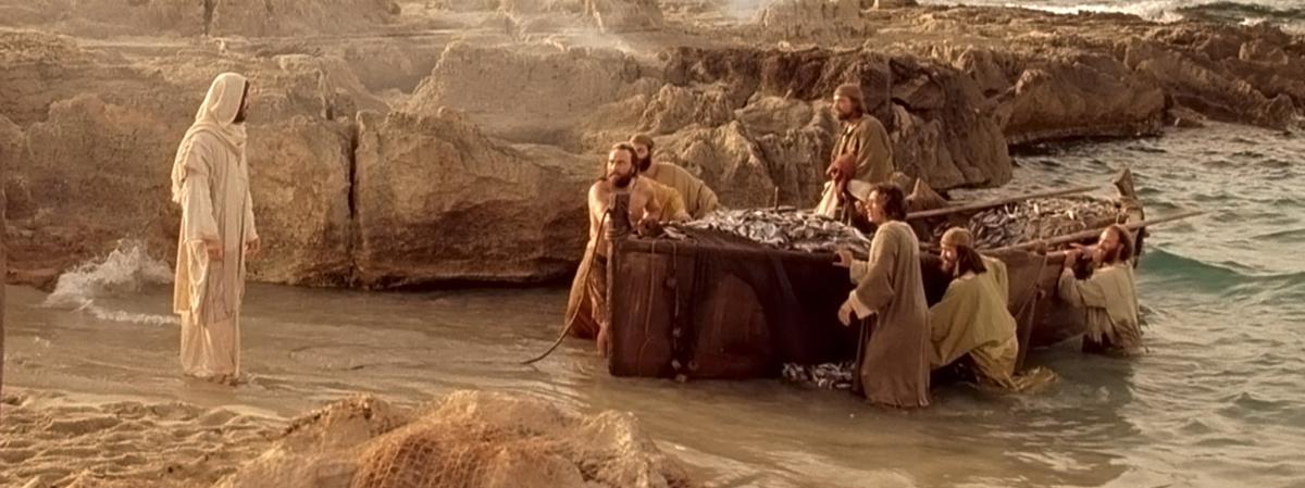 Jesucristo llamando a los apóstoles desde la orilla del mar