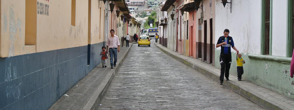 Una calle en Ecuador