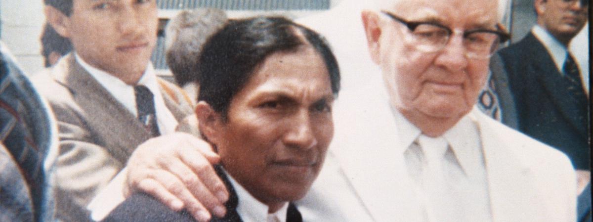 Hermano Tabango con el Presidente Kimball