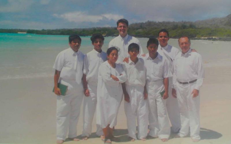 Pioneros SUD de Ecuador en su bautismo