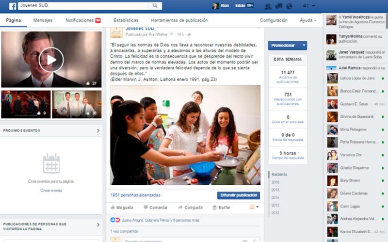 facebook Jovenes SUD