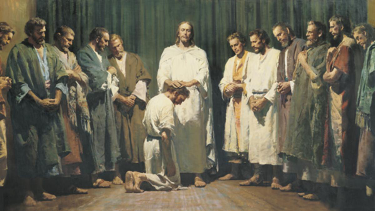 Christ ordaining apostles