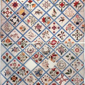 The Fourteenth Ward Relief Society left a tangible record of its members in an album quilt produced in 1857. (Courtesy Carol H. Nielson.)