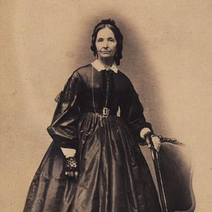 1866. Celebrated poet Eliza R. Snow posed for this photo two years before her husband, Brigham Young, commissioned her to assist in organizing local branches of the Relief Society. Photograph by the studio of Savage and Ottinger. (Church History Library, Salt Lake City.)