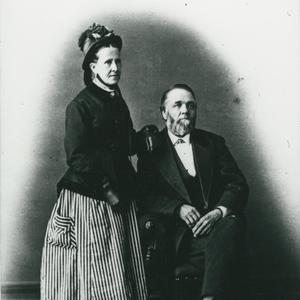 Circa 1885. Jane and Franklin Richards were strong proponents of both women's rights and the Relief Society organization. Photograph by A. J. Hoffman & Co. (Church History Library, Salt Lake City.)