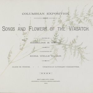 Songs and Flowers of the Wasatch