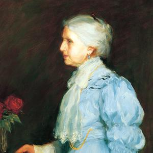 Official Relief Society portrait of Emmeline B. Wells, fifth Relief Society general president. Painting by Lee Greene Richards. (LDS 55-230, Church History Museum, Salt Lake City.)