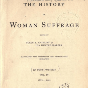 The History of Woman Suffrage, Volume 4