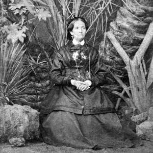 Studio portrait by H. Délié and E. Béchard, au jardin de l'Ezbekieh in Cairo, Egypt, 11 February 1873. (PH 1700 274, Church History Library, Salt Lake City.)