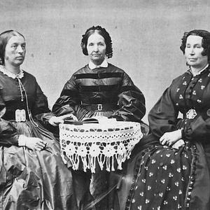 Studio portrait by Savage and Ottinger, circa 1865–1873. Left to right: Elizabeth A. Howard, Eliza R. Snow, and Hannah T. King. (PH 8004, Church History Library, Salt Lake City.)