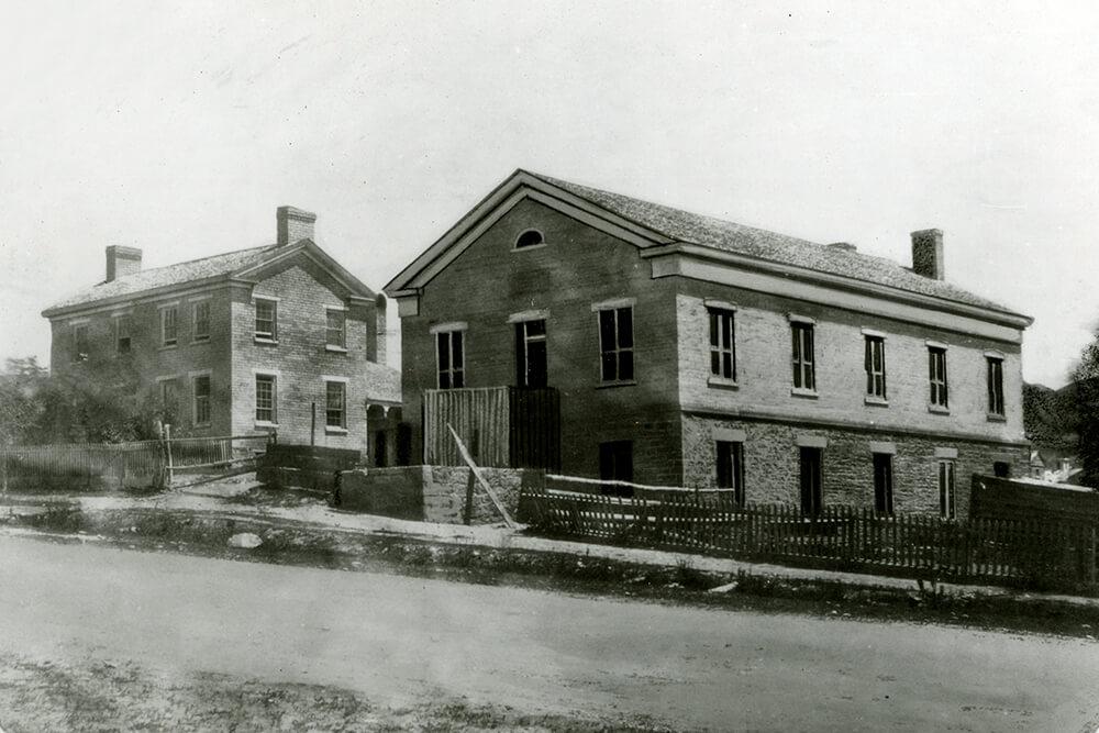 Two-story brick home, Salt Lake City, circa 1858
