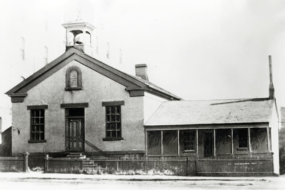 White building with wood trim, Salt Lake City, circa 1890