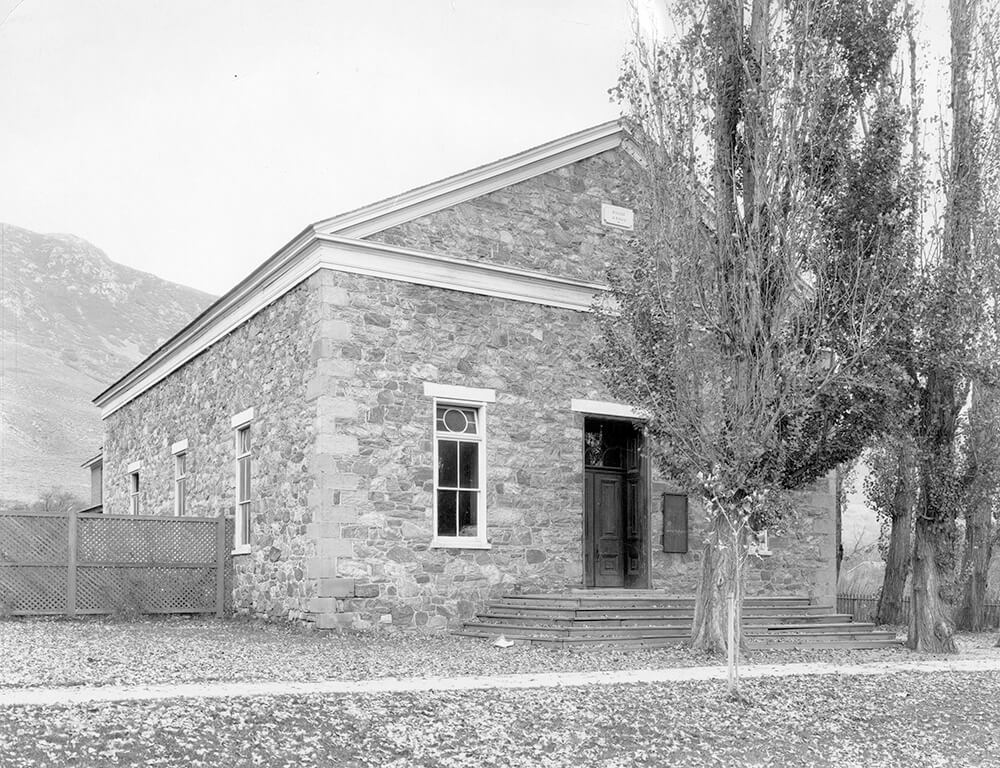 Single-story chapel, Farmington, Utah, circa 1900