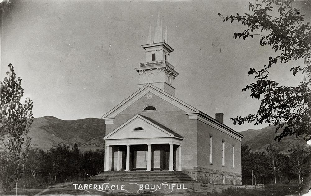 Brick chapel, Bountiful, Utah, circa 1900