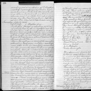 Pages from George F. Richards's journal containing his account of being sustained as an apostle on 8 April 1906. (Church History Library, Salt Lake City.)