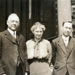 Left to right: George F. Richards, Alice A. Robinson Richards, Jno. E. Cottam, and Junius F. Wells. (Church History Library, Salt Lake City. T409265 PH6873)