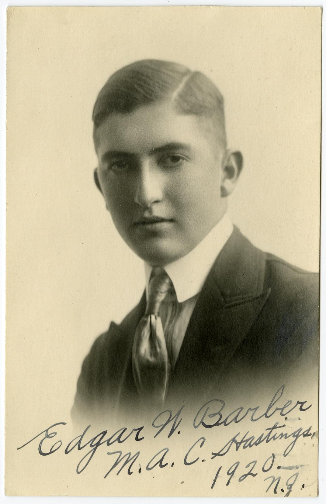 Barber, Edgar Whitaker