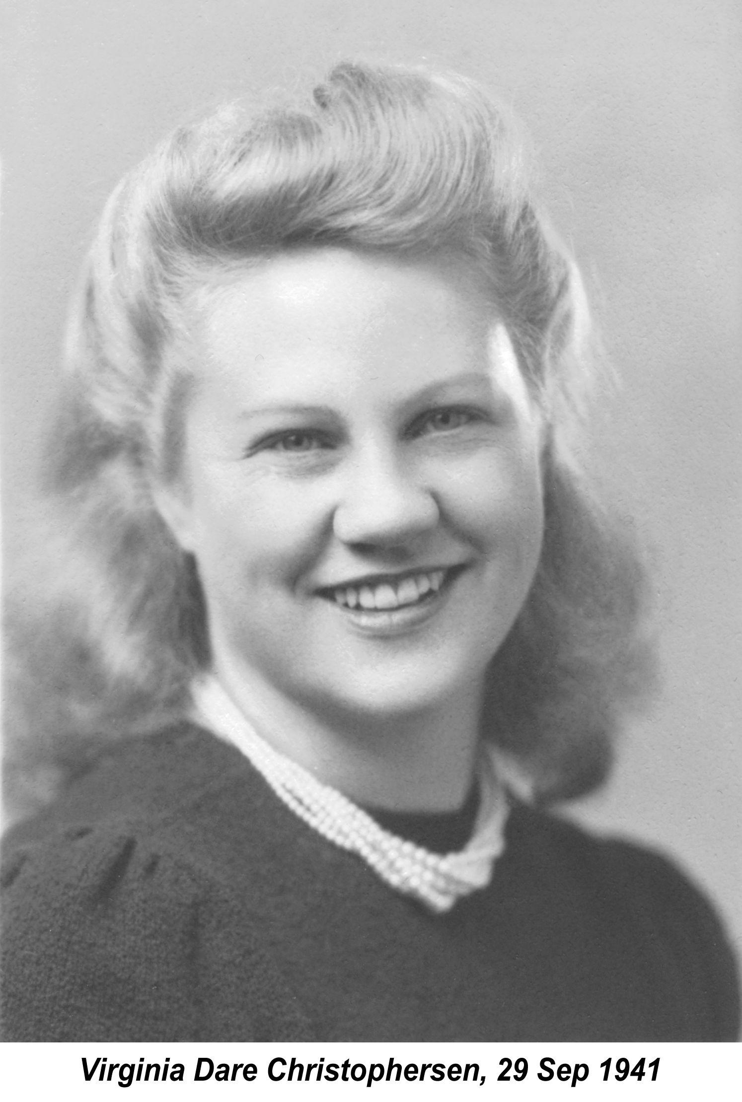 Christopherson, Virginia Dare