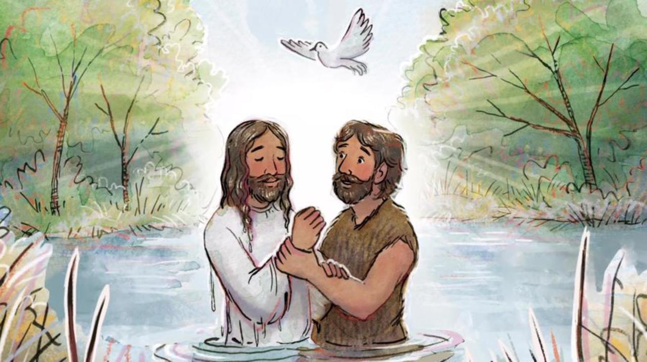 Jesus was baptized