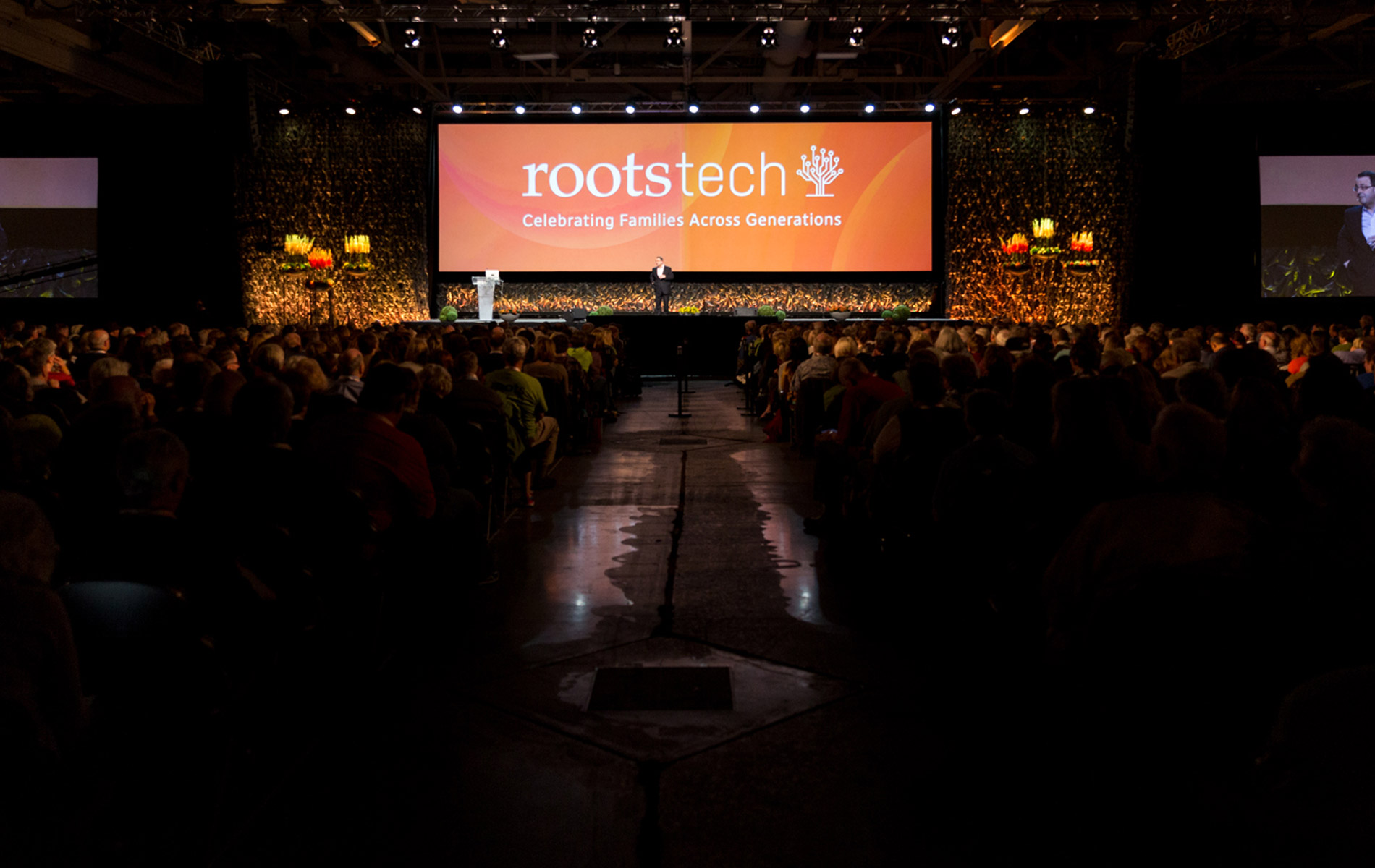 The stage at RootsTech