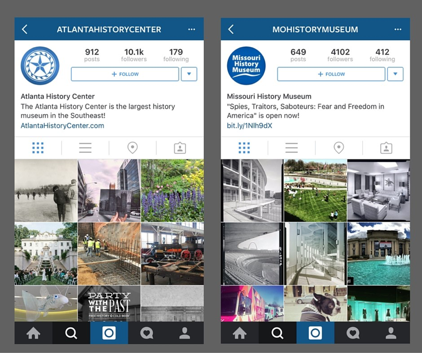 wo ways you can use Instagram for local history: first, follow users like different