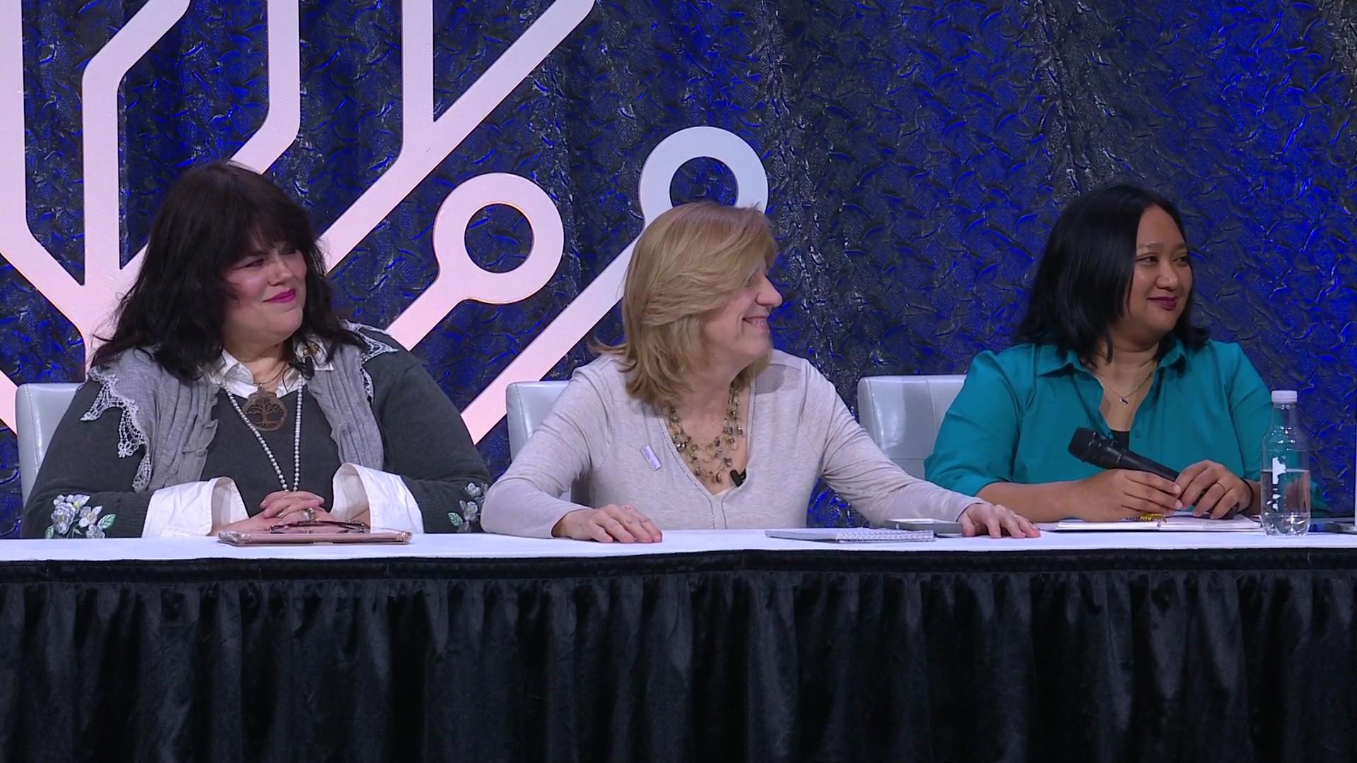 Valerie Elkins, Laura Hedgecock, Sharleen Reyes