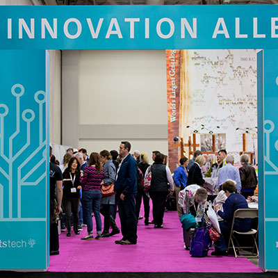 The innovation alley at RootsTech